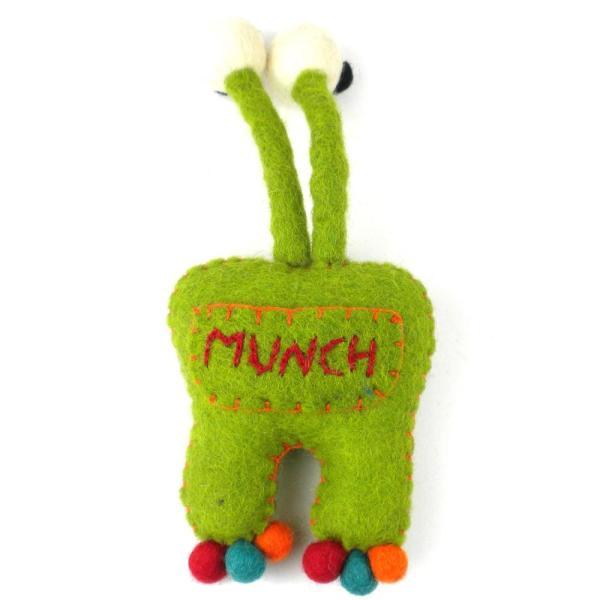 Felt Tooth Fairy Pillow - Green Monster