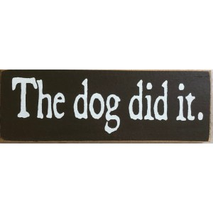 Wood Rustic Tile – The Dog
