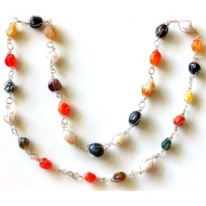 Necklace – Caged Stones