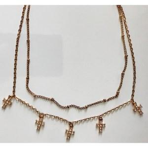 Necklace – Cross with rhinestones