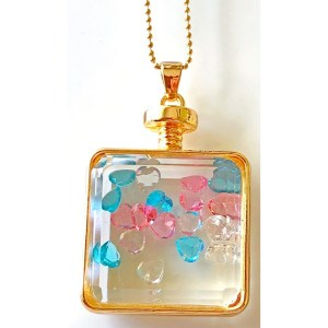 Pendant – Square Glass with Rhinestones