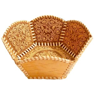 Birch Bark Decorative Plate – Woody Rose