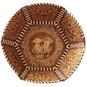 Birch Bark Decorative Plate – Fierce Mushrooms