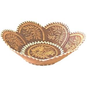 Birch Bark Decorative Plate – Happy Harvest