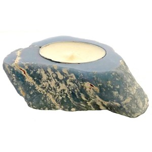Angelite Stone Candle Holder