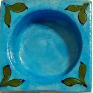 Blue Pottery Tea Light Holder