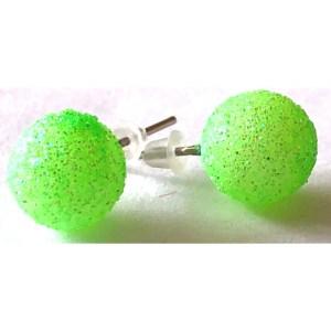 Small Green Stud Earrings