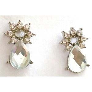 Small Water Droplet Stud Earrings