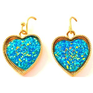 Rhinestones Heart-Shaped Earrings
