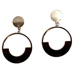 Silver Color Hoops Earrings
