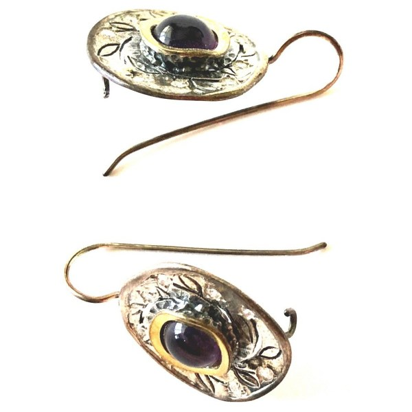 Earrings – Sterling Silver with Amethyst