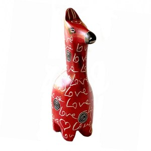 "Cute soapstone ""Love"" Sculpture – Horse"