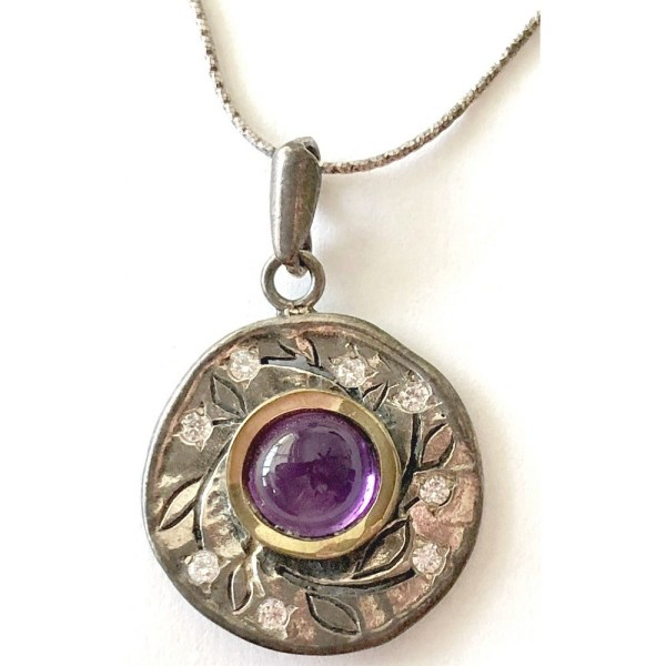 Pendant – Sterling Silver with Amethyst