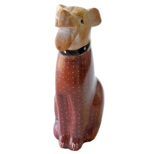 Soapstone dog sculpture