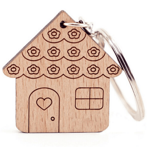 """""""House"""" Wooden Key Chain"""