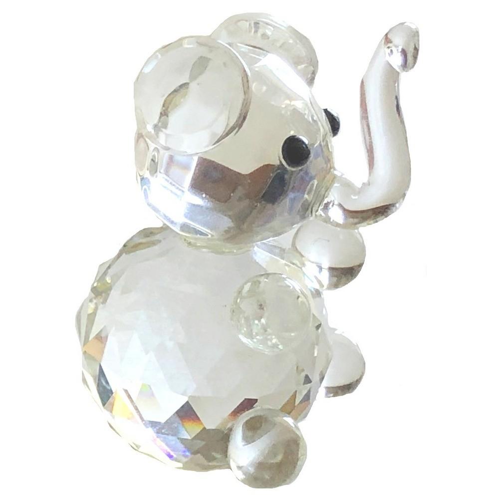 Glass Crystal Elephant Figurine