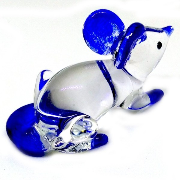 Glass Mouse - Blue