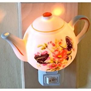 Porcelain Teapot Night Light