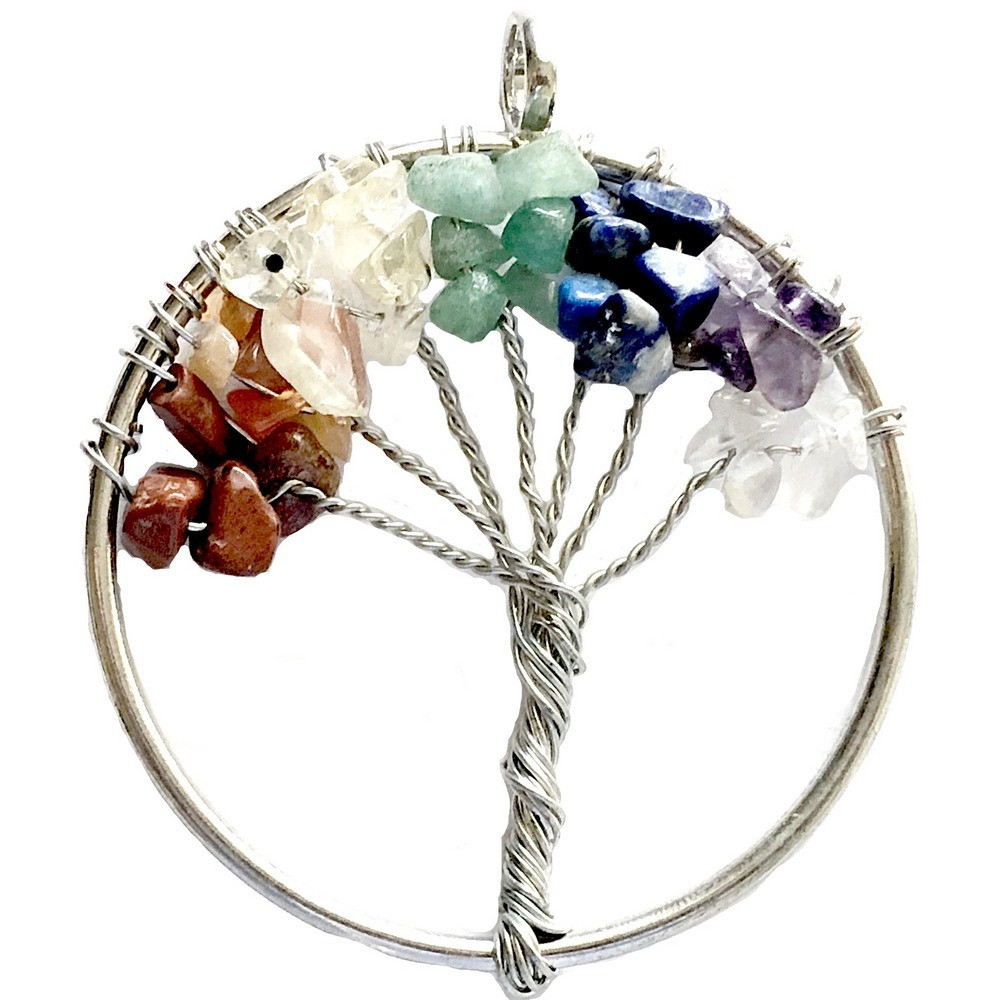 Pendant – Tree Of Life with Gemstone Chips