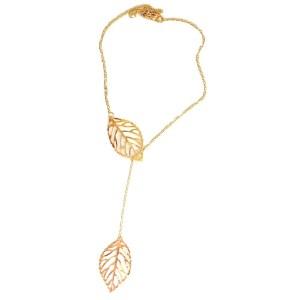Necklace – Golden Color 2 Leaves