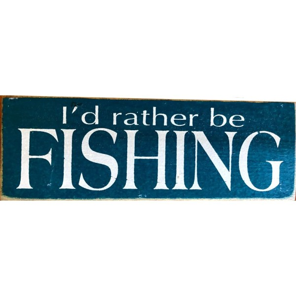 Wood Rustic Tile - I'd rather be fishing