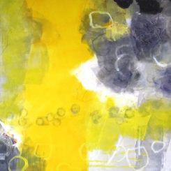 Tender grey and yellow 70x50