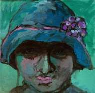 Girl with head, find it in Galeria Luz de la Vida, Cómpeta