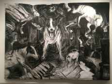 Laurie Anderson Painting with Charcoal