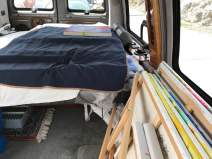 a car full of canvases