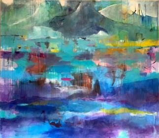 Dreaming about Greenland Acrylic on Canvas 160x140 cm