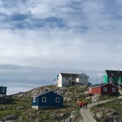 small settlement with 49 inhabitants on an island