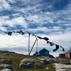 hanging the washings in the wind