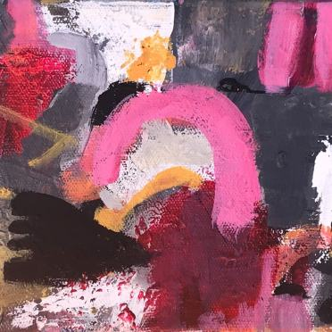 The pink arc 23,5x15,5 cm streched canvas