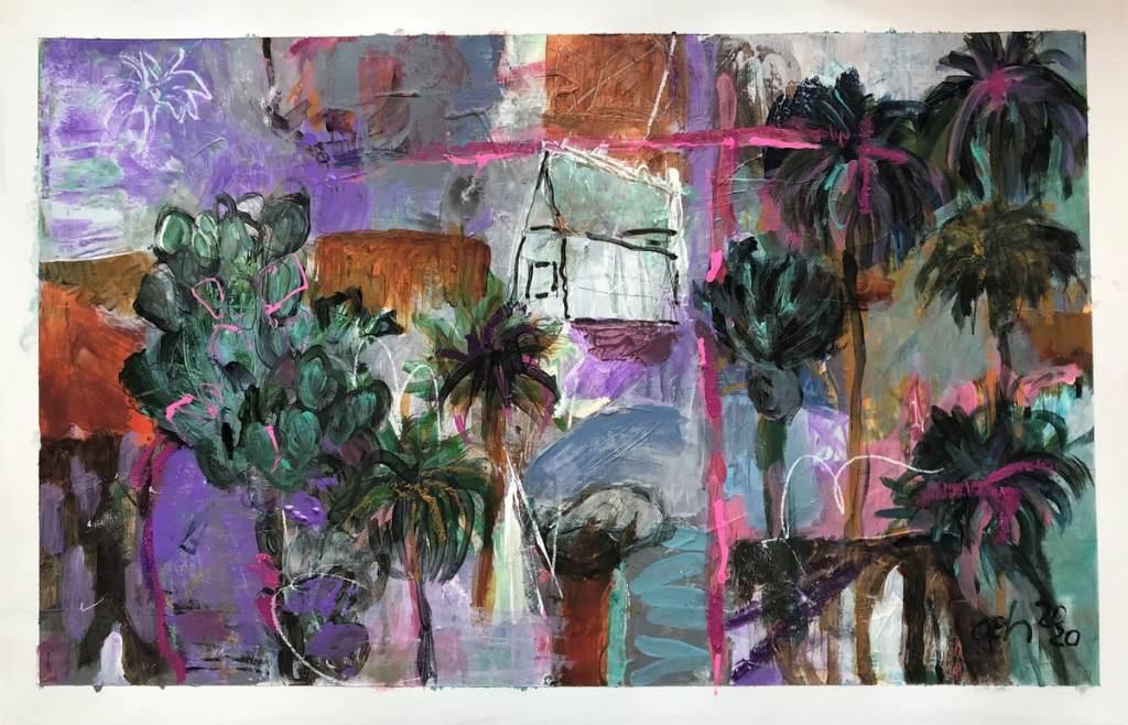 Landscape, violette tones for 200 €