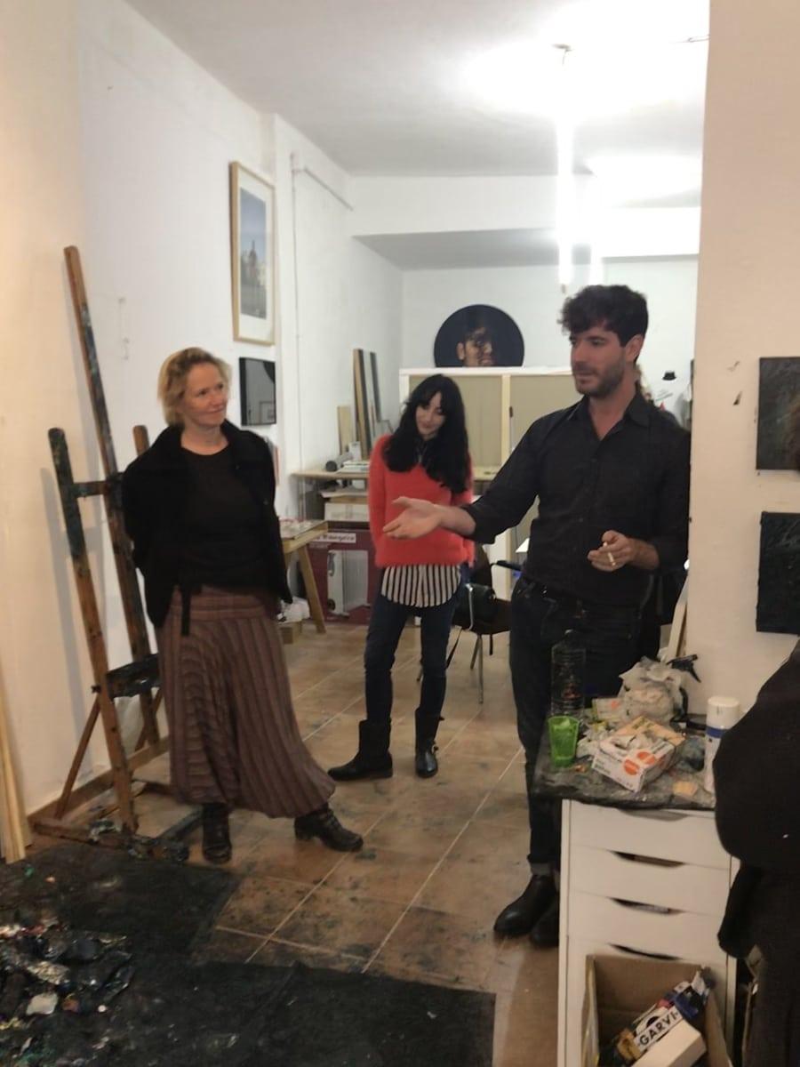 José Luis Valverde y Victoria Maldonado in the studio