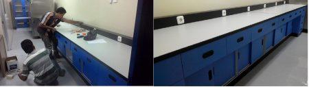 Jual Meja Pinggir Laboratorium Wall Bench