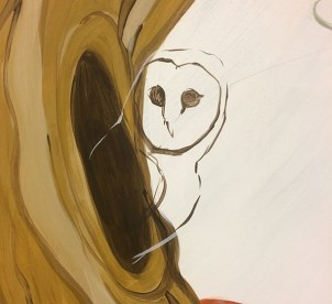 I forgot I was supposed to be drawing a Tamny owl - which owl did I begin drawing, can you tell?