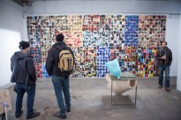 Artist Chris Ketchie with Eric Lindveit of Random Exhibits