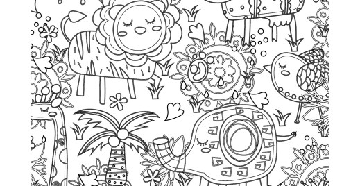 Coloriage gratuit, animaux jungle du 27 avril