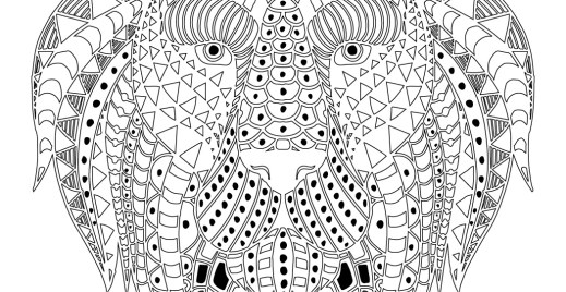 Coloriage lion difficile gratuit, avril 2016