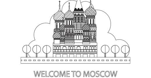 Coloriage gratuit, ville Moscow 28 avril