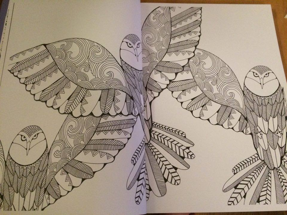 Des coloriages en 3D par Hannah Davies