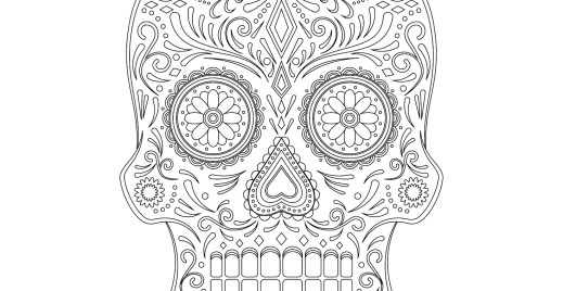 Coloriage gratuit, sugar skull 7 mai