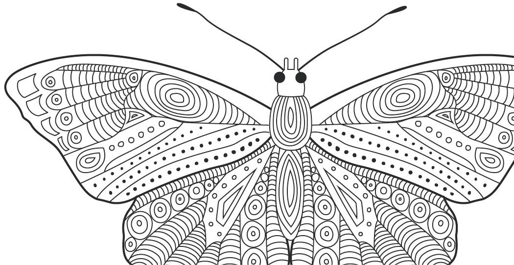 Coloriage gratuit papillons motifs doodle - Image papillon gratuit ...