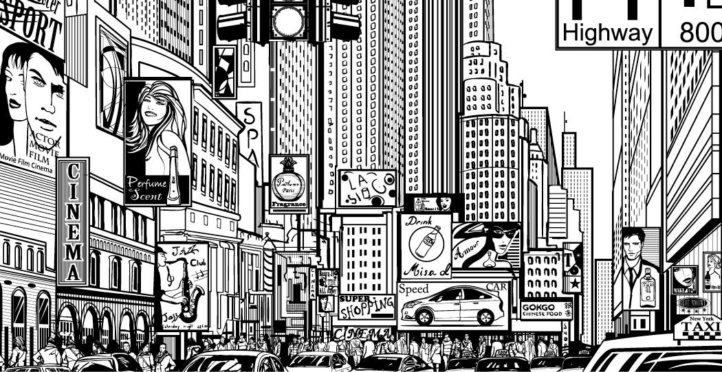 Coloriage Gratuit New York.Coloriage Gratuit Ville Shopping Times Square Artherapie Ca