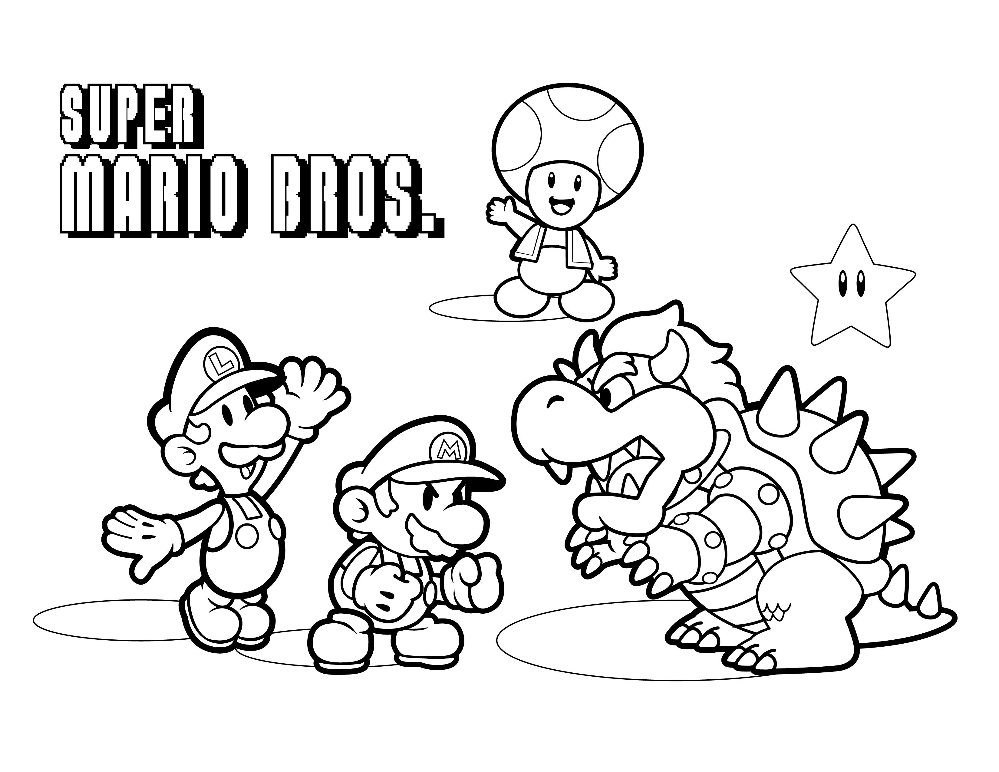 Unique Dessin A Colorier De Mario Bros