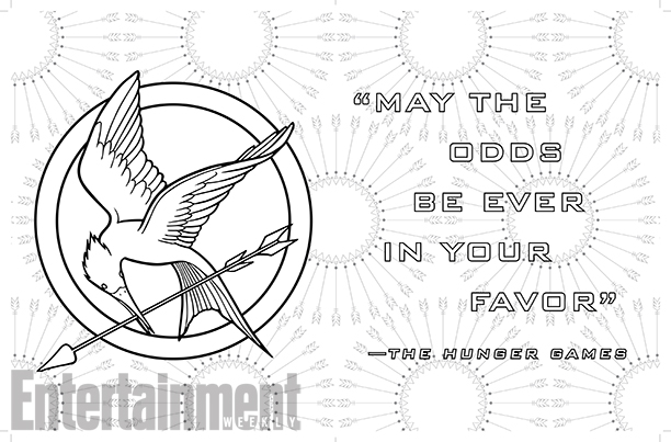 Entertainment weekly dévoile Hunger Games coloring books