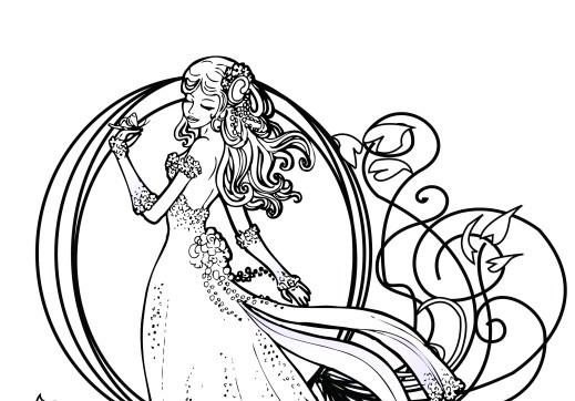 Coloriage de princesse disney gratuit à imprimer