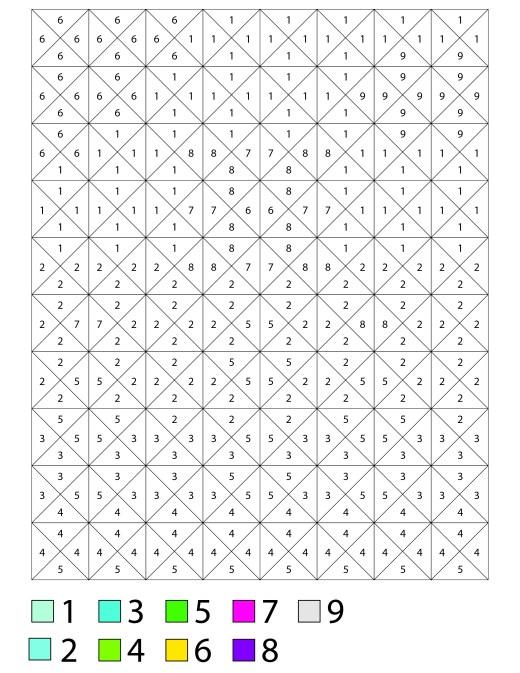 Coloriage mystère #1 gratuitement