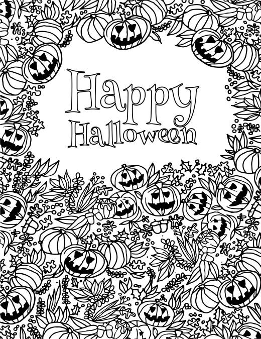 Joyeux Halloween Party coloriage 31 octobre